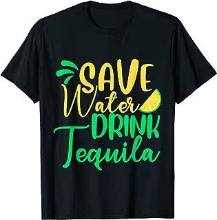 Save Water Drink Tequila Lemon Shirt Cinco De Mayo