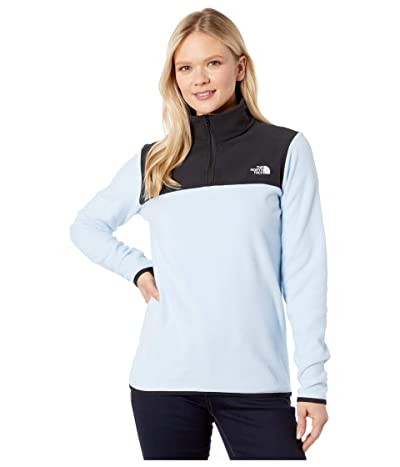 The North Face TKA Glacier 1/4 Zip (Angel Falls Blue/TNF Black) Women
