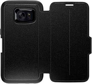 OtterBox Strada Series Leather Wallet Case for Samsung Galaxy S7 - Bulk Packaging - Onyx (Black/Black Leather)