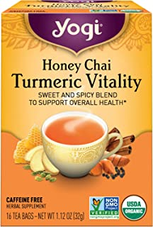 Yogi Tea - Honey Chai Turmeric Vitality - Supports Overall Health - 6 Pack, 96 Tea Bags Total