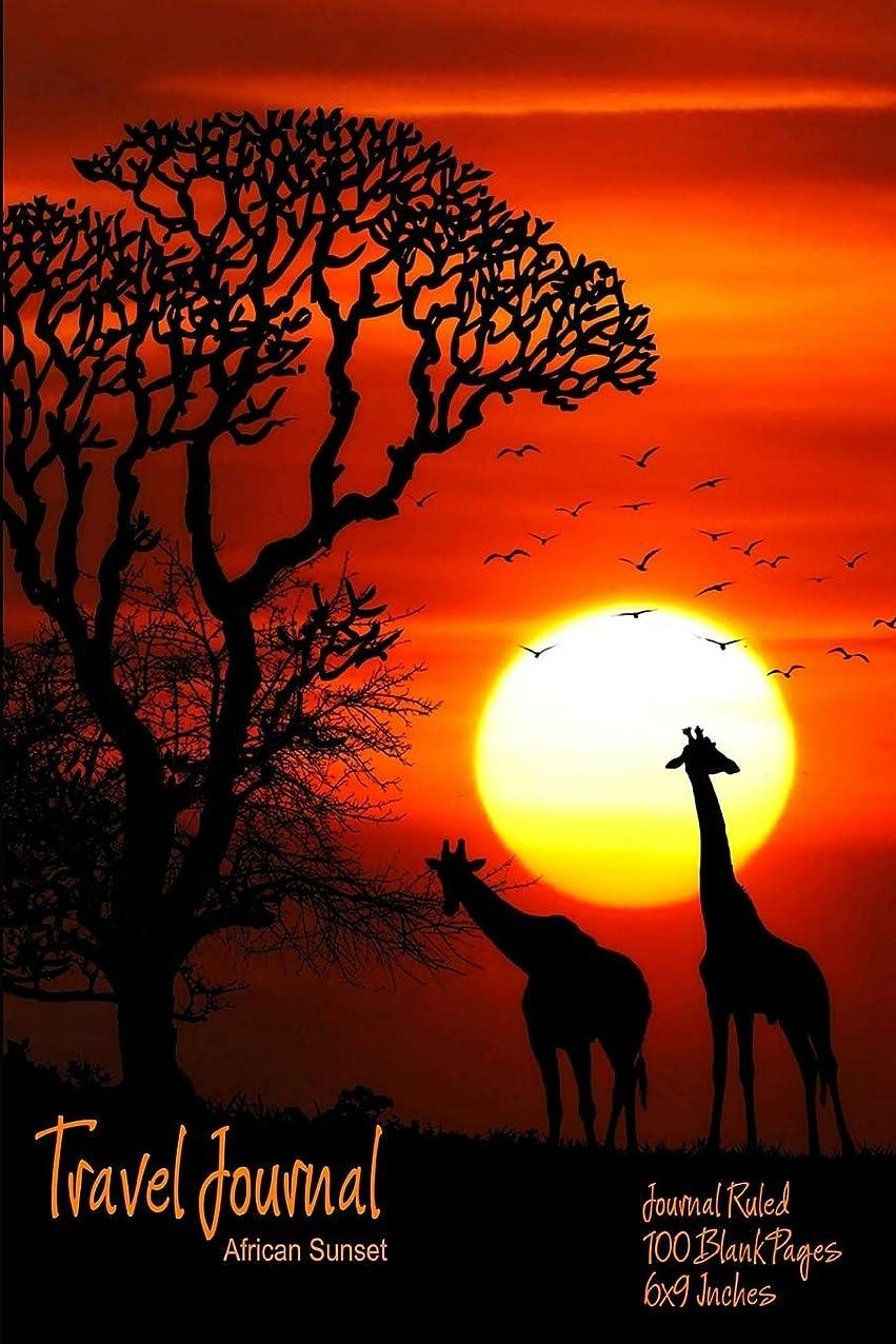 アラート遮る貨物Travel Journal (African Sunset): Journal Ruled - 100 Pages - 6x9 Inches