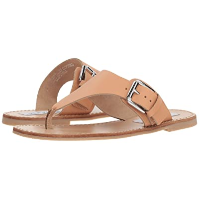 Steve Madden Clara Flat Sandal (Natural Leather) Women