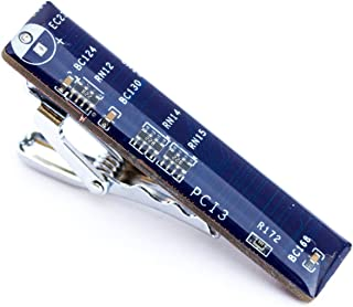 Dark Blue Circuit Board Tie Clip, unique gift for him