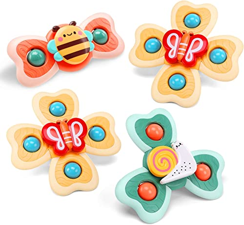 new arrival CUTE online STONE Suction online Cup Spinning Top Spinner Toy for Toddlers, Baby Bath Toy, Gifts for 3 Year Old Girls and Boys online