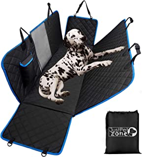 Dog Hammock for Car Back seat with Mesh Visual Window, Side