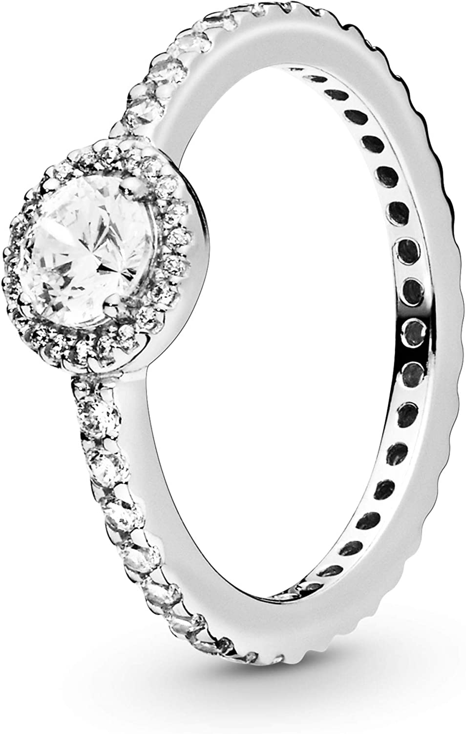 Pandora Jewelry Classic Sparkle Limited time cheap sale Halo Ring Milwaukee Mall Cubic Zirconia in Ster