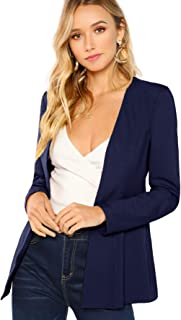 Floerns Women's Casual Work Office Open Front Blazer Jacket