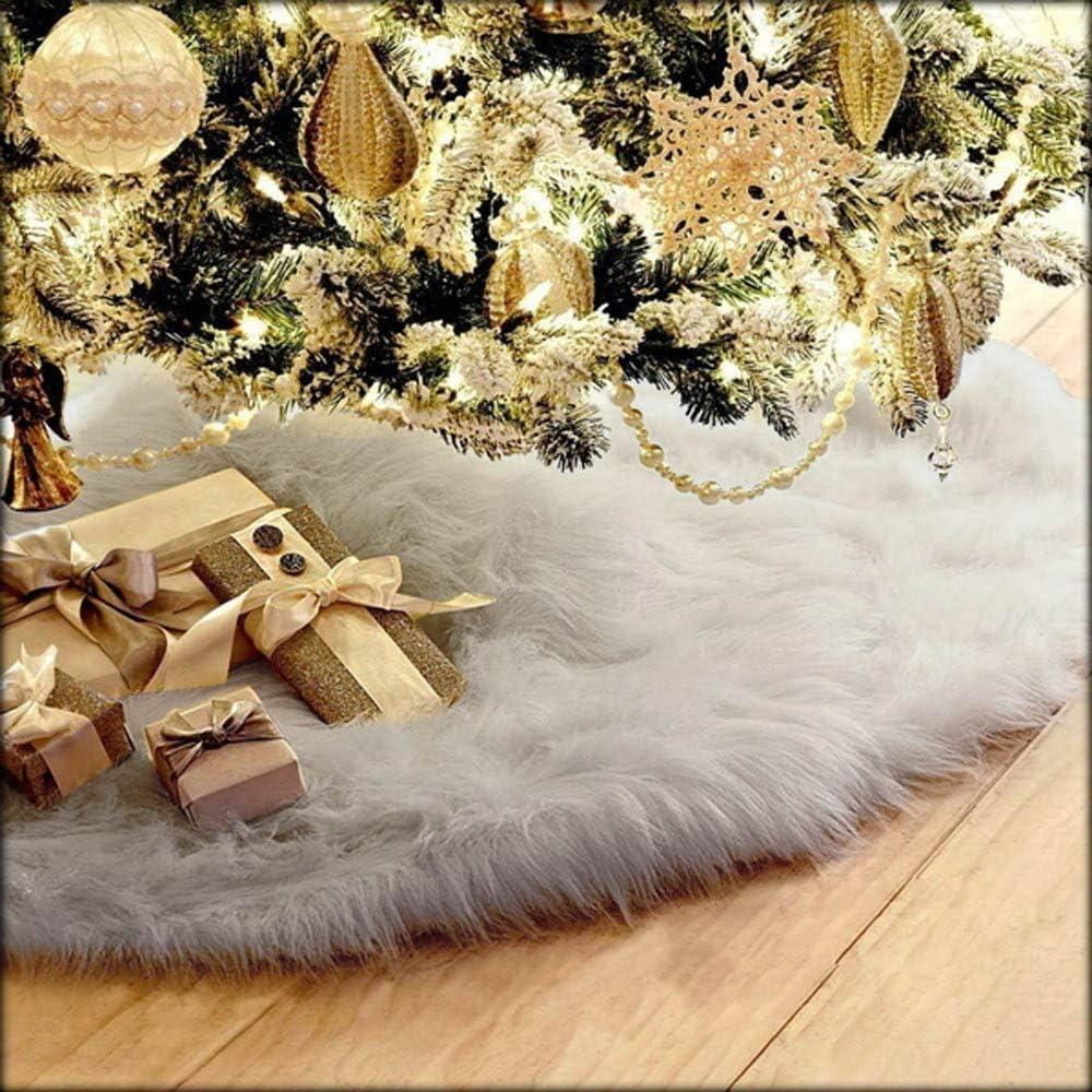 Kompassswc 76cm Rund Weihnachtsbaumdecke Pl/üsch Teppich Christbaumdecke Christbaumst/änder Decke Weihnachtsbaum Rock Dekoration Grau
