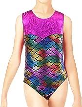 BAOHULU Girls Gymnastics Leotards Shiny Spliced Scale Dance Clothes 3-12 Years