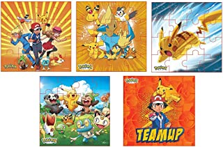 Myesha Toys Pokemon Characters Zigsaw Puzzle, Pack of 6, Total 80 Pieces, Assortment 1