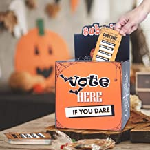 Halloween Party Supplies - Costume Contest Ballot Box & 50 Voting Cards - Fun Decorations for Home Indoor Office - Party Games for Kids