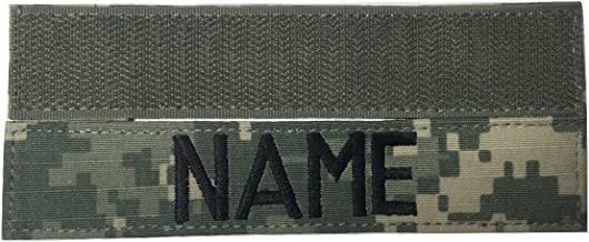 Custom Name Tape, with Fastener or Sew-On, US ARMY USAF USMC POLICE CivilAirControl Tape (With Fastener, ACU)