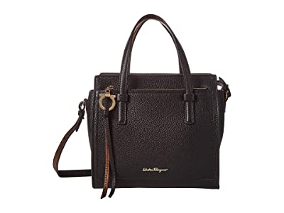Salvatore Ferragamo Amy Tote (Nero/Ruggine) Handbags
