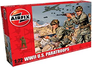 Airfix A00751 WWII US Troops Figures 1:72 Military Soldiers Plastic Model Kit, (Pack of 48)