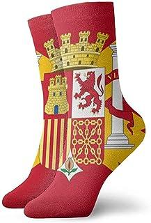 Calcetines unisex para hombre España Bandera Moda Novedad Calcetines deportivos secos Medias 30cm