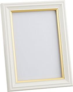 FUJICOLOR 額縁 肖像額 パールホワイト [ 無反射ガラス ] L 木製 ホワイト 406249 41064