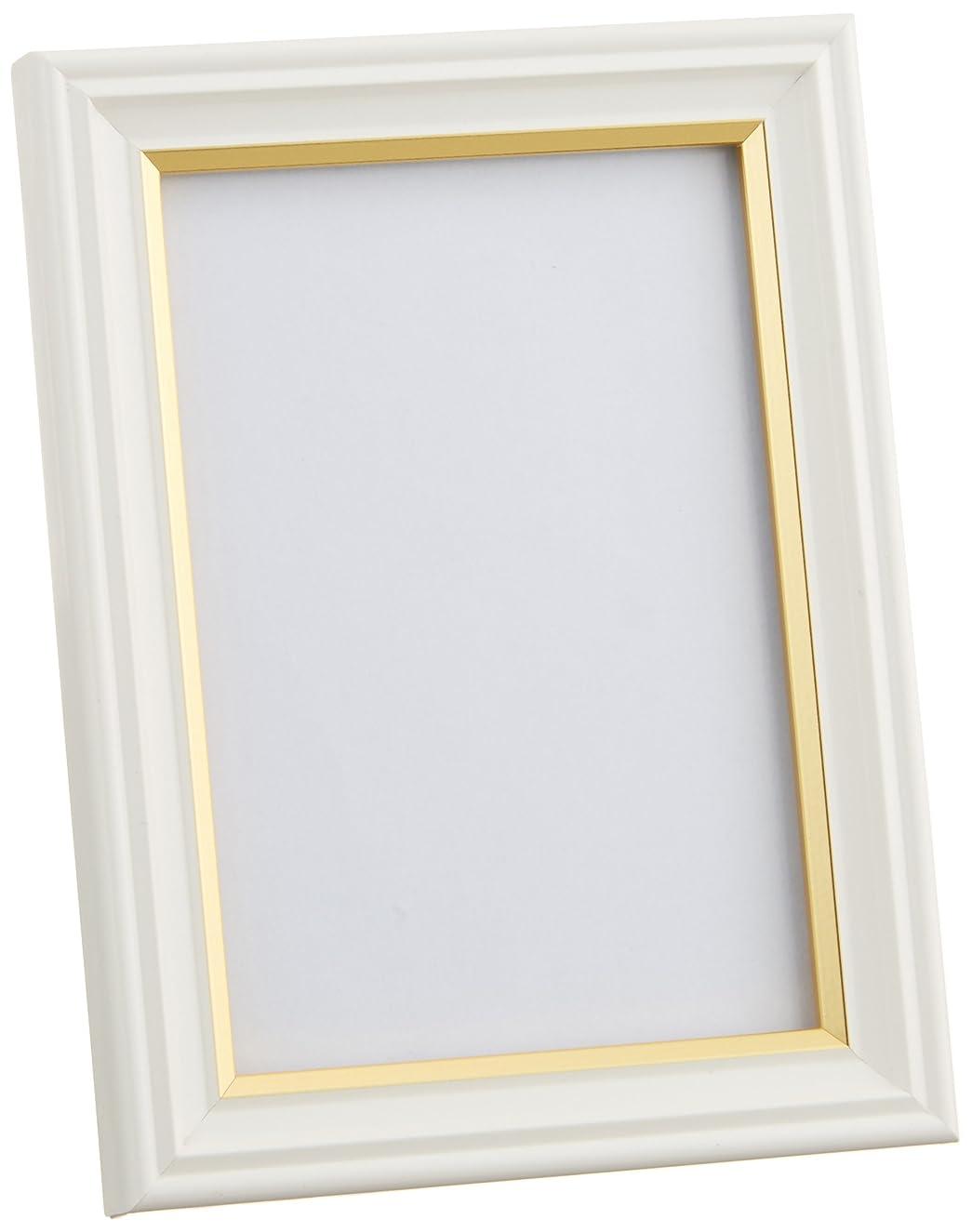 アジアレーザこだわりFUJICOLOR 額縁 肖像額 パールホワイト [ 無反射ガラス ] L 木製 ホワイト 41064