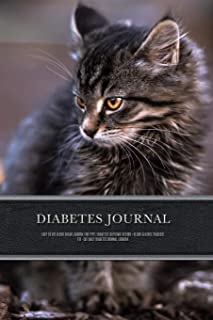 Diabetes Journal - Easy to Use Blood Sugar Logbook for Type 1 Diabetes (Glycemic Record / Blood Glucose Tracker) T1d - Cat...