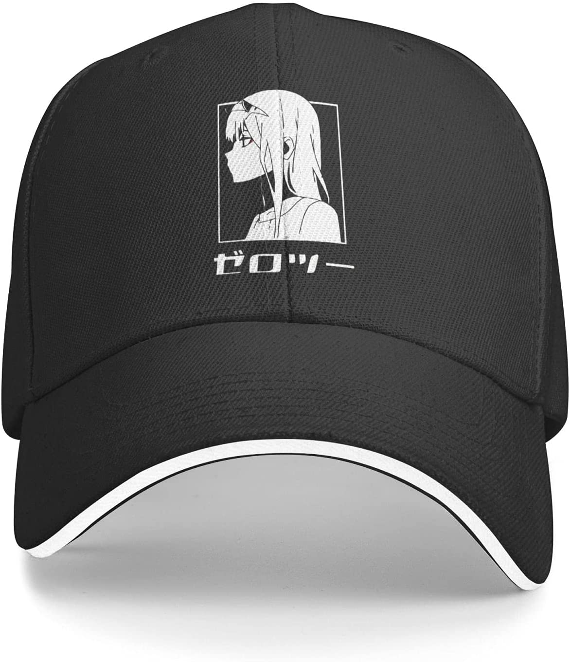 BLESS LINEN Anime Darling in The FRANXX Zero Two Fitted Cap Athletic Baseball Cap Ball Hat Dad Hat Beach Sun Hat