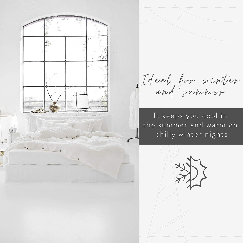 MagicLinen Linen Duvet Cover - Duvet Cover for King Size Bed - Linen Bedding - Natural Color - King Size : Home & Kitchen