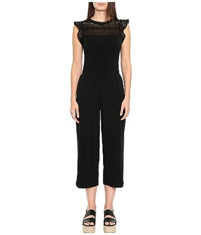 MICHAEL Michael Kors Mesh Combo Jumpsuit (Black) Women