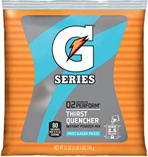 Gatorade 33677 nstant Powder Packet, 21 oz, Blue, Standard (Pack of 32)