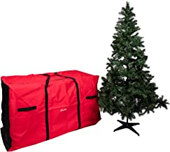 """Camerons Christmas Tree Extra-Large Storage Bag with Wheels- Heavy Duty 58""""x24""""x34"""" Storage Container for 9 ft Artificial ..."""