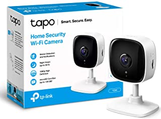 TP-Link Tapo Mini Smart Security Camera, Indoor CCTV, Works with Alexa&Google Home, No Hub Required, 1080p, 2-Way Audio, N...