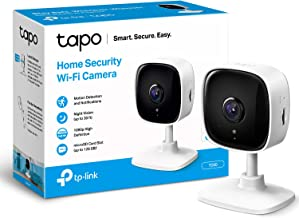TP-LINK Tapo Mini Smart Security Camera, Indoor CCTV, Compatible with Alexa&Google Home, No Hub Required, 1080p, 2-Way Aud...