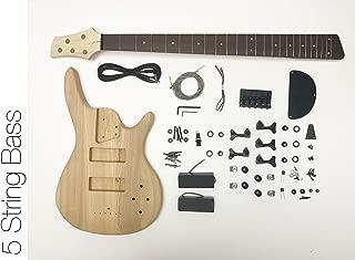 DIY Electric Bass Guitar Kit - 5 String Ash Bass