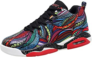 Men's Canvas Casual Sneakers Sports Couple Outdoor Lace-Up Shoes High-Top Air Basketball Running Shoes