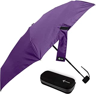 Travel Umbrella with Waterproof Case - Small, Compact Umbrella for Backpacks, Purses, Briefcases or Cars - Versatile, Unis...