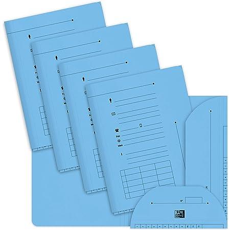 OXFORD Lot de 25 Sous-Dossiers A4 Capacité 200 Feuilles Carte Kraft Epaisseur 240g Bleu