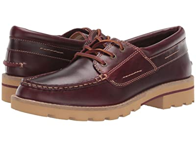 Sperry A/O Leather Lug Boat Shoe (Wine) Women
