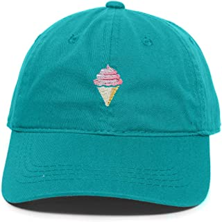 Ice Cream Cone Baseball Cap Embroidered Cotton Adjustable Dad Hat