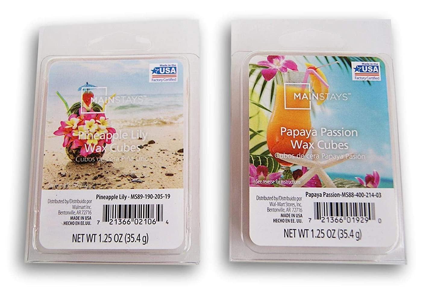 Summer Scents Wax Cubes Bundle - Pineapple Lily and Papaya Passion cxvjorycc