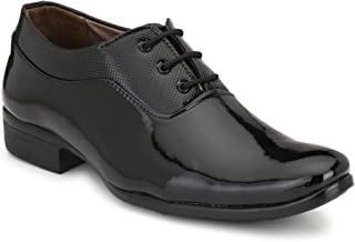 Stylelure Patent Leather Black Formal Shoes for Men