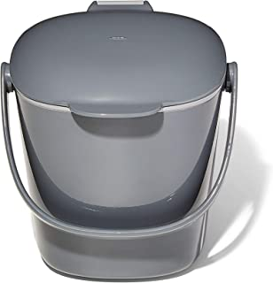 NEW OXO Good Grips Easy-Clean Compost Bin, Charcoal – 0.75 GAL/2.83 L