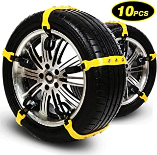 Snow Chains Tire Chains for SUV Cars Trucks Vehicle Universal Security Chain Anti Skid Chains for Ice Snow Mud Sand Univer...