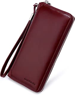 red zipper wallet