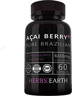 Acai Berry+ Pure Brazilian Acai Cleanse Weight Loss Antioxidant Support Energy and Hearth Health + Immune System Booster A...
