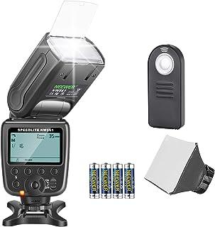 Neewer NW-561 Kit flash Speedlite para Canon Nikon Cámara réflex digital Sony Pentax con zapata estándar incluye: (1) flash NW-561 (1) difusor suave/rígido (1) control remoto (4) baterías
