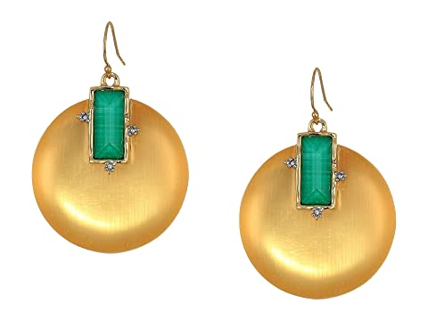 Alexis Bittar Stone Studded Retro Wire Earrings