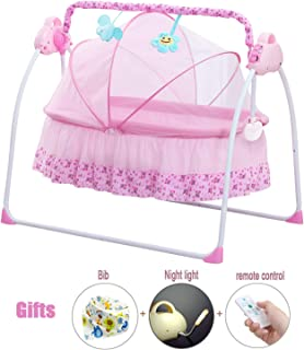 SANPLO Cbbay Electric Cradle Baby Swing Infant Bed Cot Crib Rocking Basket Newborn Bassinet Automatic Intelligent Sleeping Artifact