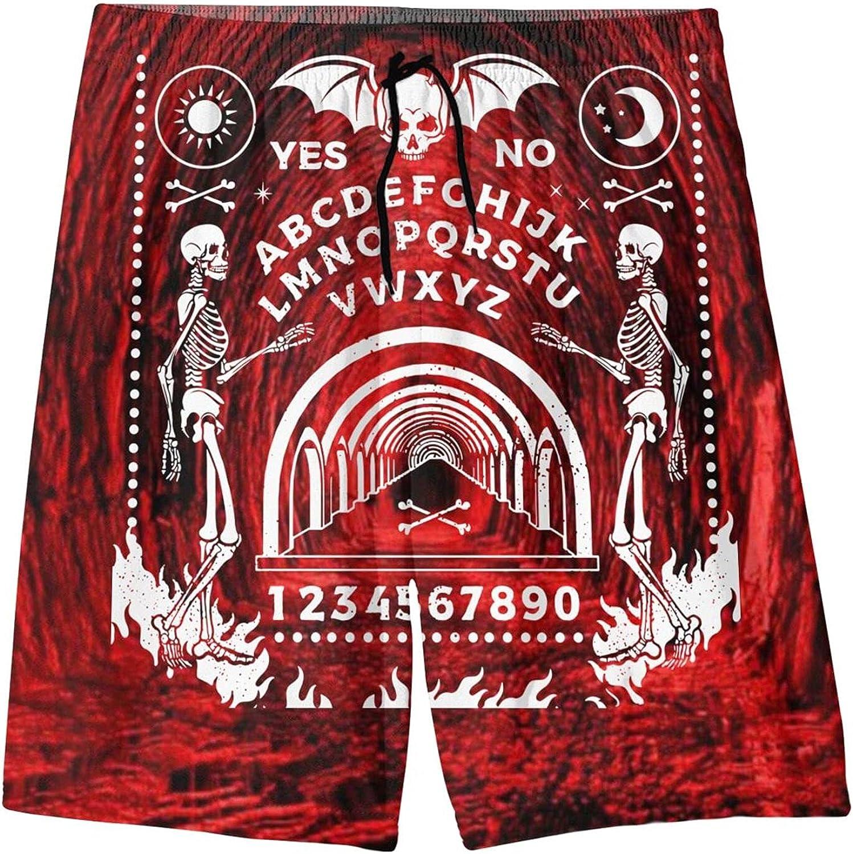 Uananlnxi Skeleton Magic Ouija Board Beach Shorts Teenager Hawaiian Shorts Boys Girls Kid