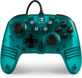 PowerA Enhanced Wired Controller for Nintendo Switch, Officially Licensed - Teal Frost Translucent Effect