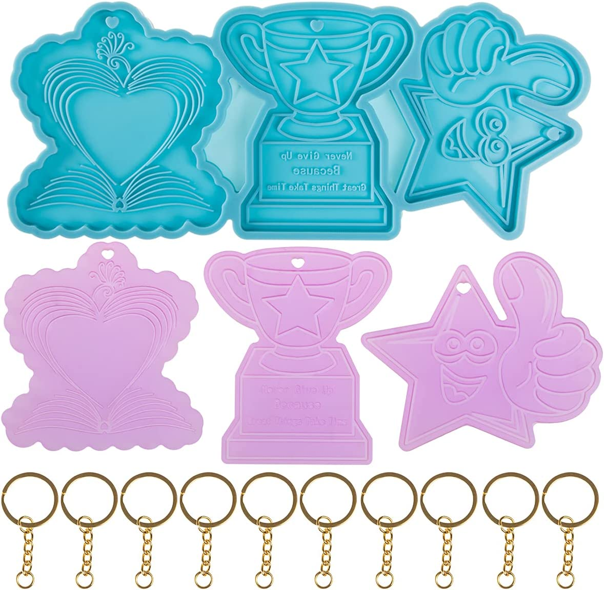 Newinglan Super Luxury goods Glossy Keychain Epoxy Silicone with Max 55% OFF Resin 1 Mold