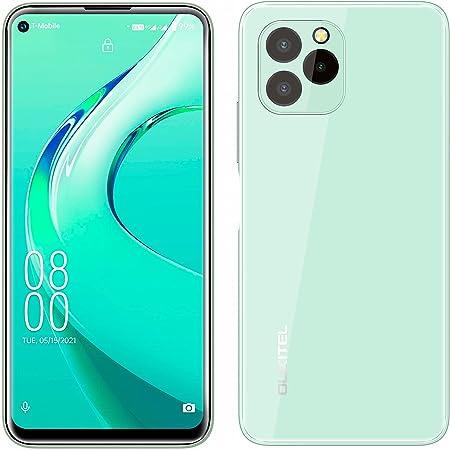 Mobile Phone Unlocked OUKITEL C21 PRO, Full Glass Design, 4GB+64GB, 256GB External SD, 21MP Triple Rear Camera, Android 11 Dual SIM Smartphone, 6.39'' HD+ Display, Fingerprint Face ID GPS WIFI Green