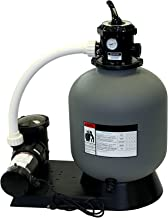 Rx Clear Radiant Complete Sand Filter System | for Above Ground Swimming Pool | Extreme Niagara 1 HP Pump | 19 Inch Tank | 175 Lb Sand Capacity | Up to 21,000 Gallons