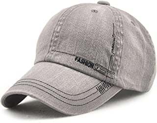 Classic Cotton Baseball Cap, FEELFAMILY Adjustable Fashion Leisure Hat for Running, Travel, Workouts and Outdoor Sports